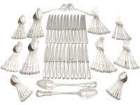 Sterling Silver Canteen of Cutlery for Twelve Persons by George Adams - Antique Victorian 1850 (14 of 15)