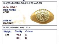 0.98ct Diamond & 18ct Yellow Gold Cluster Ring - Vintage c.1940 (6 of 9)
