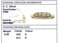 0.35ct Diamond & 14ct White Gold Dress Ring c.1930 (6 of 9)