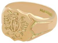 9ct Yellow Gold Gent's Signet Ring - Antique 1915 (3 of 6)