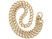 15ct Yellow Gold Necklace / Watch Chain - Antique c.1900 (2 of 9)