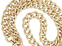 15ct Yellow Gold Necklace / Watch Chain - Antique c.1900 (3 of 9)