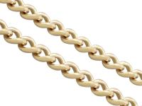 15ct Yellow Gold Necklace / Watch Chain - Antique c.1900 (5 of 9)