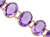 193.38ct Amethyst & 12ct Yellow Gold Bracelet - Antique Victorian c.1870 (3 of 12)
