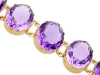 193.38ct Amethyst & 12ct Yellow Gold Bracelet - Antique Victorian c.1870 (4 of 12)