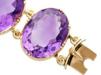 193.38ct Amethyst & 12ct Yellow Gold Bracelet - Antique Victorian c.1870 (7 of 12)