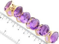 193.38ct Amethyst & 12ct Yellow Gold Bracelet - Antique Victorian c.1870 (8 of 12)