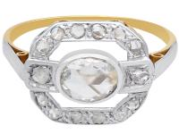 0.61ct Diamond & 18ct Yellow Gold Dress Ring c.1930 (4 of 9)