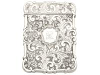 Sterling Silver Castle Top Card Case - Antique Victorian 1858 (2 of 9)