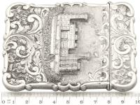 Sterling Silver Castle Top Card Case - Antique Victorian 1858 (9 of 9)