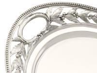 Sterling Silver Galleried Drinks Tray - Antique Victorian 1879 (6 of 9)