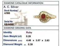 0.28ct Ruby 7 0.39ct Diamond, 18ct Yellow Gold Twist Ring - Vintage c.1980 (6 of 9)
