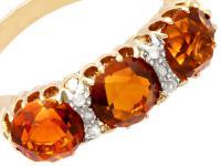 2.76ct Citrine & 0.10ct Diamond, 18ct Yellow Gold Dress Ring c.1930 (3 of 9)