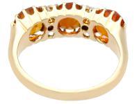 2.76ct Citrine & 0.10ct Diamond, 18ct Yellow Gold Dress Ring c.1930 (4 of 9)