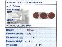 2.76ct Citrine & 0.10ct Diamond, 18ct Yellow Gold Dress Ring c.1930 (6 of 9)