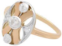0.29ct Diamond & 14ct Rose Gold Dress Ring c.1930 (3 of 9)