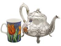 Sterling Silver Three Piece Tea Service - Antique Victorian 1847 (3 of 15)