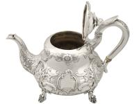 Sterling Silver Three Piece Tea Service - Antique Victorian 1847 (5 of 15)