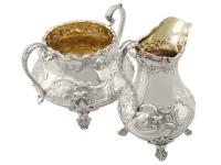 Sterling Silver Three Piece Tea Service - Antique Victorian 1847 (15 of 15)