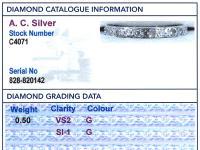 0.50ct Diamond & Palladium Full Eternity Ring c.1930 (6 of 9)