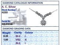 1.99ct Diamond & Silver Necklace - Antique c.1920 (9 of 9)