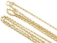 Antique 9ct Yellow Gold Longuard / Watch Chain c.1890 (3 of 12)