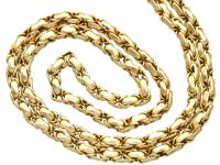 Antique 9ct Yellow Gold Longuard / Watch Chain c.1890 (2 of 12)