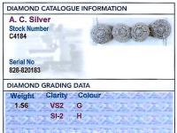 1.56ct Diamond, Platinum & 18ct Gold Cufflinks - Antique c.1920 (9 of 9)