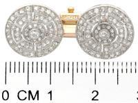 1.56ct Diamond, Platinum & 18ct Gold Cufflinks - Antique c.1920 (7 of 9)