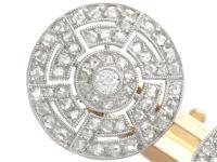 1.56ct Diamond, Platinum & 18ct Gold Cufflinks - Antique c.1920 (2 of 9)