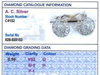 0.59ct Diamond, 14ct Yellow Gold Drop Earrings - Antique c.1905 (8 of 9)