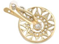 0.59ct Diamond, 14ct Yellow Gold Drop Earrings - Antique c.1905 (5 of 9)