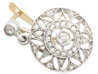 0.59ct Diamond, 14ct Yellow Gold Drop Earrings - Antique c.1905 (3 of 9)