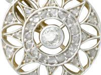 0.59ct Diamond, 14ct Yellow Gold Drop Earrings - Antique c.1905 (2 of 9)