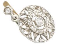 0.59ct Diamond, 14ct Yellow Gold Drop Earrings - Antique c.1905 (4 of 9)