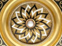 Enamel & Seed Pearl 15ct Yellow Gold Mourning Brooch - Antique Victorian c.1880 (4 of 9)