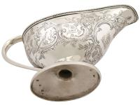 Scottish Sterling Silver Sauceboats - Antique George III (1784) (11 of 12)