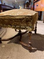 Late 19th Century Walnut Foot Stool (2 of 5)