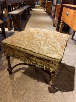 Late 19th Century Walnut Foot Stool (3 of 5)