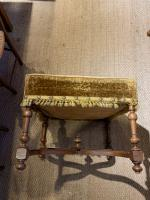Late 19th Century Walnut Foot Stool (5 of 5)