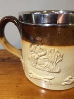 Very Large Silver Mounted Stoneware Harvest Mug (3 of 7)