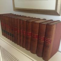 Collection of Leather Spine Books