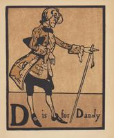 An Alphabet  - Lithographs by William Nicholson 1898 (3 of 6)