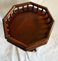 Tall Mahogany Style Plant or Statue Stand (3 of 4)