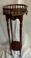 Tall Mahogany Style Plant or Statue Stand (2 of 4)