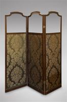 19th Century Mahogany Screen