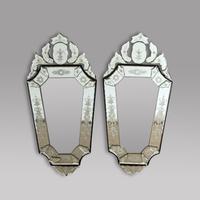 Pair of Venetian Style Wall Mirrors
