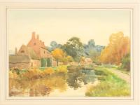 Henry Stannard - Watercolour - Lower Slaughter, Gloucestershire (2 of 3)
