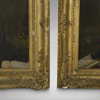 Pair of Oils on Canvas - Portraits of Isaac & Sarah Love 19th Century (4 of 5)