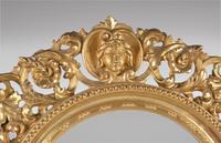 Pair of Italian Carved Giltwood Circular Mirrors (3 of 4)